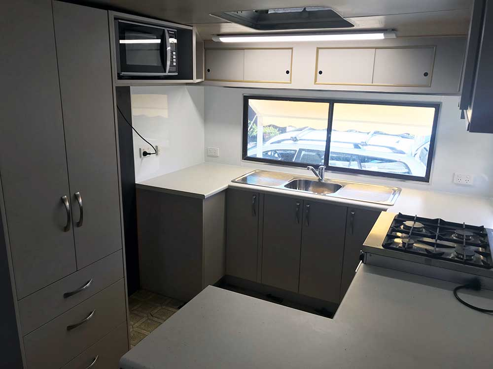 Port Stephens Kitchens and Joinery - Custom Caravan Kitchen Renovation After Shots